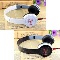 Sign of folding headset earphones