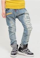 Children's wear jeans spring 2014 boys haroun pants cowboy pants children children trousers