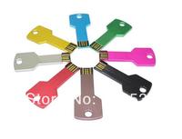 Hot sale!! FreeShipping ! New 8 Color USB2.0 Metal KEY Flash Memory U-Disk Pen Drive 1GB 4GB 8GB 16GB 32GB/Key USB 2.0