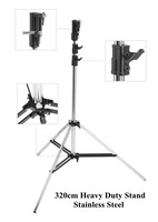 2014 New Sale 320cm Studio Light Stand Tripod Heavy Duty Stainless Steel for Hmi Lights Film