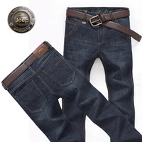 2014 men's clothing ultralarge male jeans mid waist male slim straight jeans  free shipping
