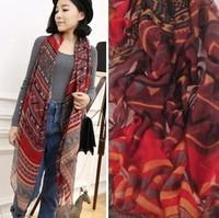 2013 HOT Sale new style Women's long cotton worldwide geometry big Winter Scarf,Warm headband shawl, 180*100 FREE SHIPPING