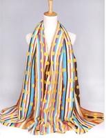 dot and stripe scarf New 2014 Fashion Women Long Voile Tribal Aztec Printed silk Scarf Shawl Muslim Hijab autumn-winter,Free