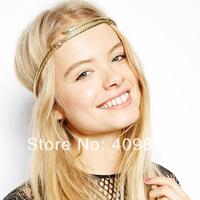 Creative Gold Snake Serpent Crown Tikka Head Hair Cuff Headband Headpiece Punk Wholesale  Free Shipping Boho Celebs Style