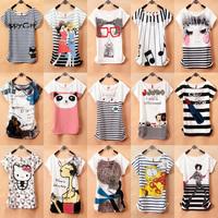 2014 New Topic 1 Mickcy Mokey T Shirt Women tees women type T-shirts Short Sleeve Quicker Shipping Women's Printed T Shirts