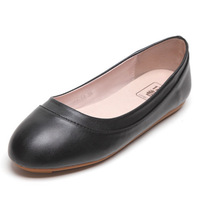 Plus size women's single shoes spring big plus size gommini loafers flat