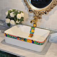 Plus size rectangle basin wash basin counter basin wash basin -