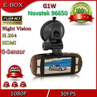 "Free shipping Original G1W Car DVR Camera Recorder Novatek 96650 Full HD 1080P 30FPS 2.7"" LCD Night Vision WDR"