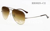 freeshipping Brand men's sunglasses 58CM 62CM glass lens sunglasses driving glasses RB3025 3026men outdoor big star glasses