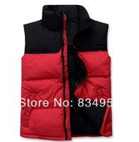 Man Winter And Autumn Casual Down Vests New  Fashion Male winter thickening thermal outside sport duck down vest, free shipping