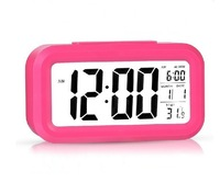 Auto clock lounged small alarm clock car thermometer child luminous bedside clock