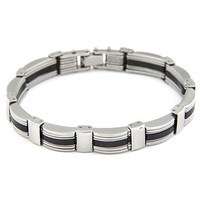 new fashion luxury men stainless steel Bracelets Bangle punk texture Vintage Style men's wristband Bracelet Bangles