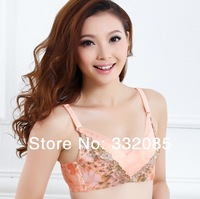 Hot Selling Deep V Sexy Charming Embroidery Lace Bras Plump Thin Push Up Bra Embroidery Push Up Bras Women Tube-tops Underwear