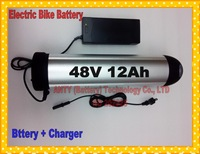 Fedex Free Ship Electric Bicycle Battery 48V 12Ah 550W Lithium ion Battery with Charger,BMS Electric Bike Rechargeable Battery