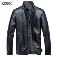 Z8000 genuine leather clothing male slim short design stand collar sheepskin jacket men's clothing outerwear
