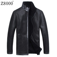 Z8000 genuine leather fur clothing male one piece male short design slim fur men's clothing outerwear