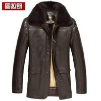 Sheepskin genuine leather men's clothing male cross gold mink liner skin nick coat genuine leather clothing