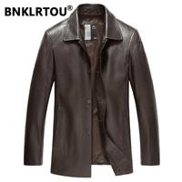 Bnklrtou men's genuine leather clothing leather clothing male single leather clothing sheepskin leather jacket male