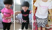 Wholesale 2014 summer children t shirts clothing wholesale boys girls short sleeve leisure cotton tops 5pcs/lot free shipping