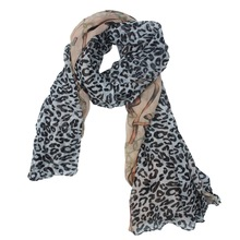 popular pink leopard print scarf