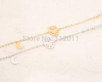 Wholesale 2014 Trendy Brand Exquisite Animal Women Bracelet Vintage 18k Gold Plated Punk Owl Bracelets Free Shipping