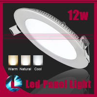 Ultra thin design Dimmable  CREE LED 12W LED Round Panel Lights ceiling recessed down light/ warm/cool white home lighting