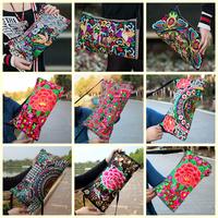 Pretty bag women clutch handbag new 2015 women messenger bags two side embroidery national casual cross-body shoulder small bag