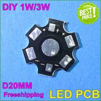 60pcs/lot 1W/3W LED light PCB 20mm LED PCB 1W 3W  High Power LED Heat Sink Aluminum Base Plate for hight power led beads