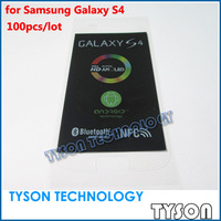 OEM Factory Screen Protector Film for Samsung Galaxy s4 100pcs/lot Free Shipping