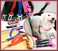 100Pcs/lot Adjustable Car Vehicle Safety Seatbelt Seat Belt Harness Lead Cat Dog Pet P13