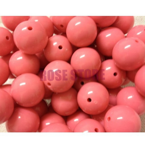 Easter Beads Rose Pink For Festival Large 20MM 50pcs Big Chunky Gumball Bubblegum Acrylic Solid Beads for Necklace Jewelry(China (Mainland))
