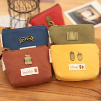 2014 vintage coin purse canvas fabric women's coin purse key wallet  Free shipping