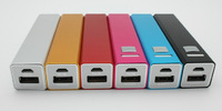 100pcs/lot Mini Portable Power Bank for mobile phones and for Tablet PC 2600 mAh square columns with micro usb cable+ retail box