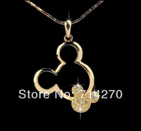 Free Shipping Accessories Wholesale 18K gold Plated Gp Austrian druzy crystal new design Personalised Face Pendant Necklace