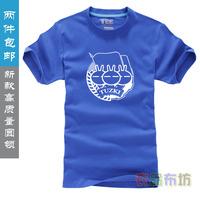 Free shipping sports TUZKI short-sleeve T-shirt slim lovers tuzki 100% cotton O-neck basic tuzki shirt
