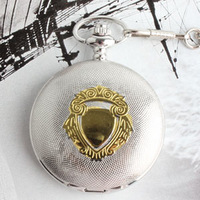 08 white gold vintage mechanical pocket watch silver luminous watch male women's antique gift table