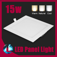 Square Recessed Ceiling Panel Lights 15W Dimmable CREE LED Bulb Lamp Warm/Cool White light home lighting Free Shipping