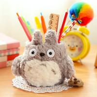 1PCS/LOT Cartoon Plush Totoro Pen Pencil Holder Cute Desk Decoration Storage Mini Gift Free Shipping