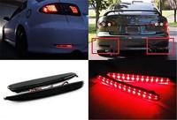 New Mazda 6 LED Rear Bumper Reflector Black Smoked Lens Tail Brake Stop Light