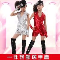 2014 Jumpsuit Jiu Jitsu Paintball Child Costume Boy And Girl Modern Dance Jazz Performance Wear Hip-hop Set for 110-170cm Kid