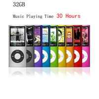 Slim 4th gen 32gb 9 Colors for choose  mp4 player Music playing time 30Hours fm radio video player
