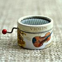 Violin Paper hand crank music box 18 Notes music box movement DIY box musica gifts sweet birthday gifts, wedding souvenir