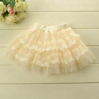 Korean version children's summer body color yarn fluffy cake skirt 3colors 5pcs/lot wholesale