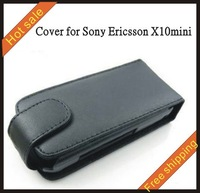 Free shipping --New high quality more colours leather case mobile phone cellphone for SONY ERICSSON X10mini with vision package