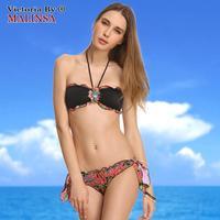 2014 new free shipping Hot sexy bikini swimsuit beach bikinis set swimwear brand retro bra women girls summer giftsb 380-168-068