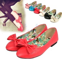 Women's Casual Flats Bowknot Slip-on Candy Color Flat Ballet Shoes Comfortable Lady 10287