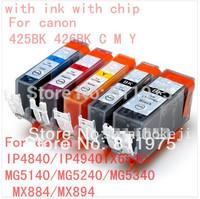 10pcs Free shipping PGI 425 CLI 426  ink cartridge For canon PIXMA IP4840/IP4940 IX6540 MG5140/MG5240/MG5340 MX714/MX884/MX894