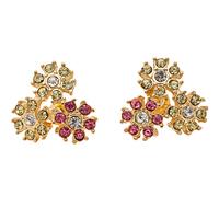 029 fashion  2014 diamond stud earring