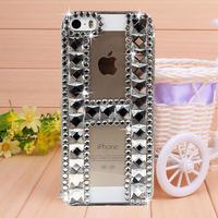 New Diamond Brilliant Rhinestone Case Cover for iPhone 4 4s case for iPhone 5 5s case Mobile Border Protection