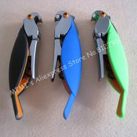 Novelty Parrot Multi-function Folding Corkscrews Opener   Beer Cap Opener Bartender Waiter Wine Bottle Opener Tool 3 Colors